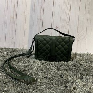 Steve Madden mini olive quilted cross body